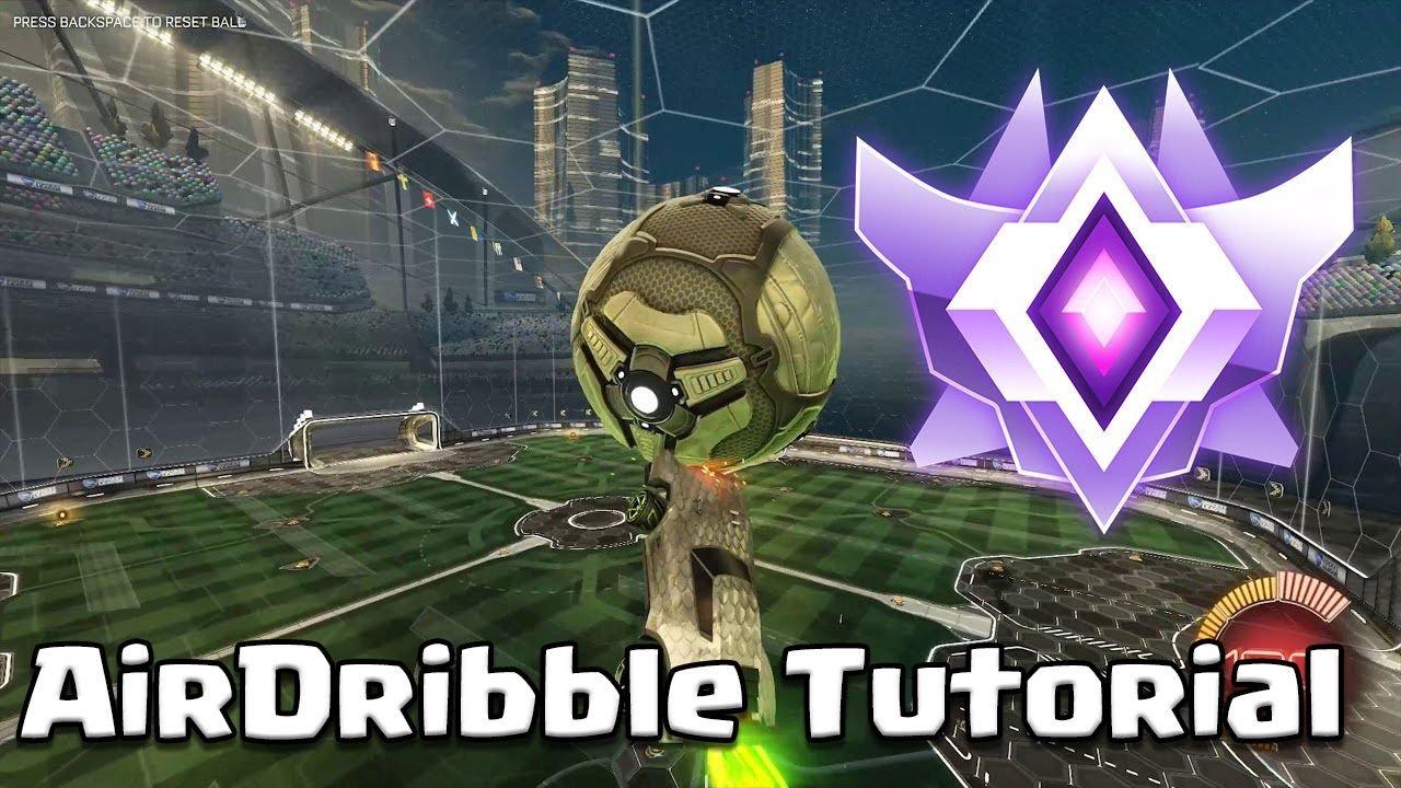 Rocket League AIRDRIBBLE TUTORIAL für Anfänger! (Grand Champion Deutsch, PC) AND  DoubleTap