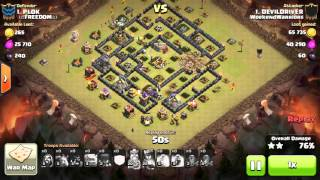 Clash of clans- town hall 9 three star attacks