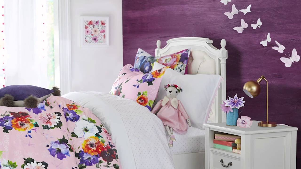 Beautiful Butterfly Bedroom | Pottery Barn Kids   YouTube