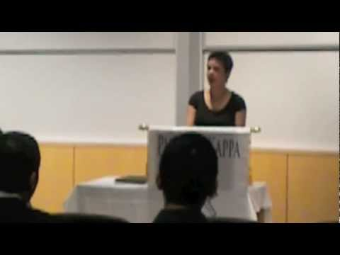 Rachel LeQuire and 2012 Phi Beta Kappa Speech, Syracuse University