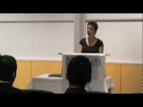 Rachel LeQuire and 2012 Phi Beta Kappa Speech, Syracuse University