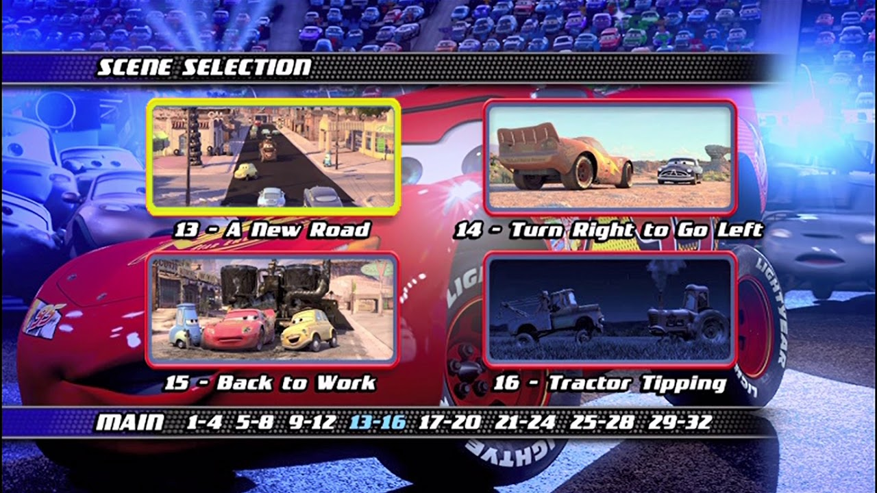 Cars Widescreen 2006 Dvd Menu Walkthrough Youtube