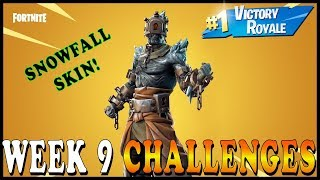 FORTNITE SEASON 7 WEEK 9 CHALLENGES! NEW SNOWFALL SKIN in FORTNITE - Need Help? // Playing With SUBS