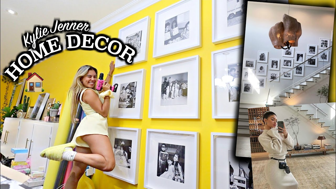 I tried recreating Kylie Jenner's gallery wall... NEW HOME DECOR!