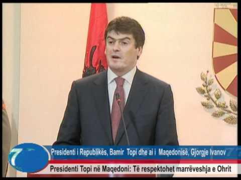 Presidenti Bamir Topi në Maqedoni.wmv