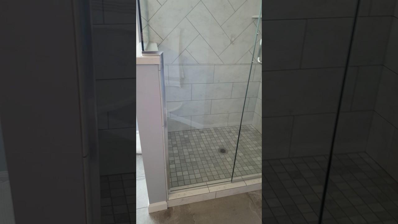 Professional Residential Frameless Glass Shower Doors Enclosures