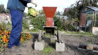 самодельный садовый измельчитель