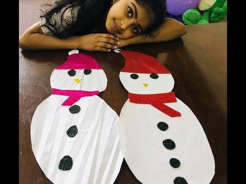 How to make a Snowman/paper snowman