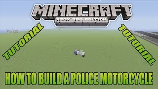 Minecraft Xbox Edition Tutorial How To Build A Police Motorcycle