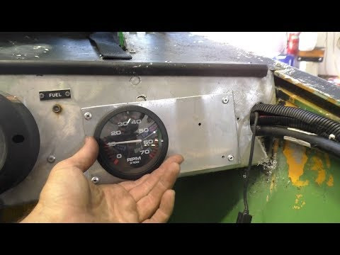 Installing and calibrating an outboard tachometer