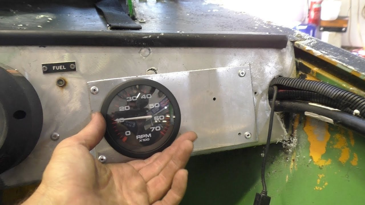 Installing and caliting an outboard tachometer on