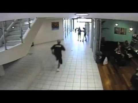 Bag Thief Slams Into Glass Door In Getaway Sprint Youtube