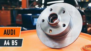 Kaip pakeisti galas stabdžių diskas AUDI A4 B5 Sedanas [AUTODOC PAMOKA]