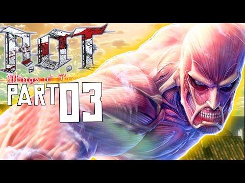 EREN'S TITAN RAMPAGE!! | Attack on Titan: Wings of Freedom - Walkthrough Part 3, Gameplay PS3