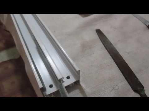 colocacion de felpa en ventana para hacer ventana de aluminio desde cero 14