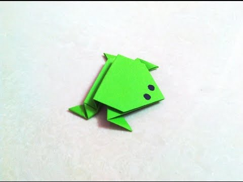 How to make an origami paper frog | Origami / Paper Folding Craft, Videos and Tutorials.
