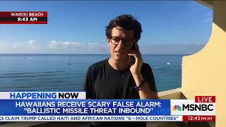 reports from Hawaii after false missile alarm It