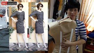 Hướng dẫn thiết kế váy nhún eo tại Thời Trang Thủy | Making Pattern Body Dress