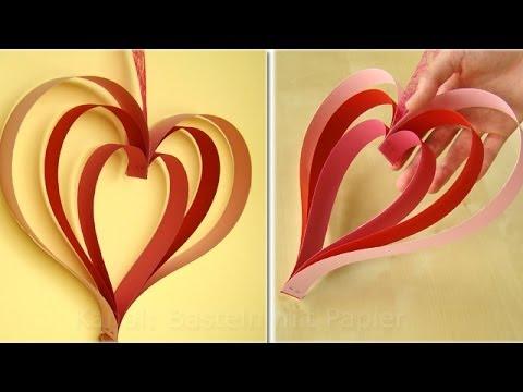 origami herz falten basteln mit papier einfache. Black Bedroom Furniture Sets. Home Design Ideas