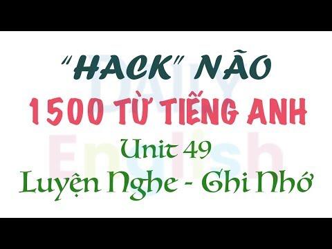 mua sách hack não 1500 từ vựng tiếng anh - Hack Não 1500 Từ Tiếng Anh Unit 49: ARTS & MEDIA - 1