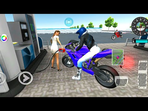 3d Driving Class | Blue  Motorbike Driving Simulator 3d | Bike Racing 3d Game Android Gameplay
