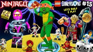 NINJA TURTLES POWER PIZZA! Lets Build & Play LEGO Dimensions #15: Michael Angelo the Ninjago Master