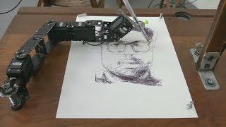 Берлин: роботы рисуют портреты людей (новости)