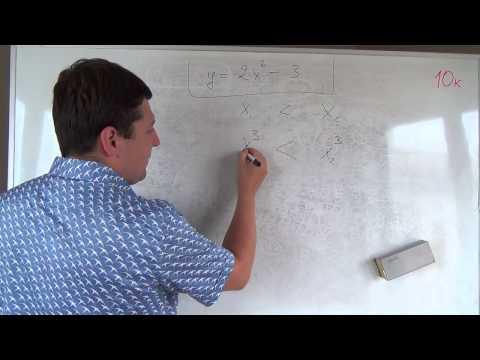 Как находить промежутки монотонности функции