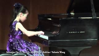 Sonatina Op.55 No.1, I. Allegro.....F. Kuhlau / Yulania Wang