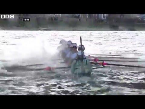 Women's Boat Race: Cambridge almost sink as Oxford win