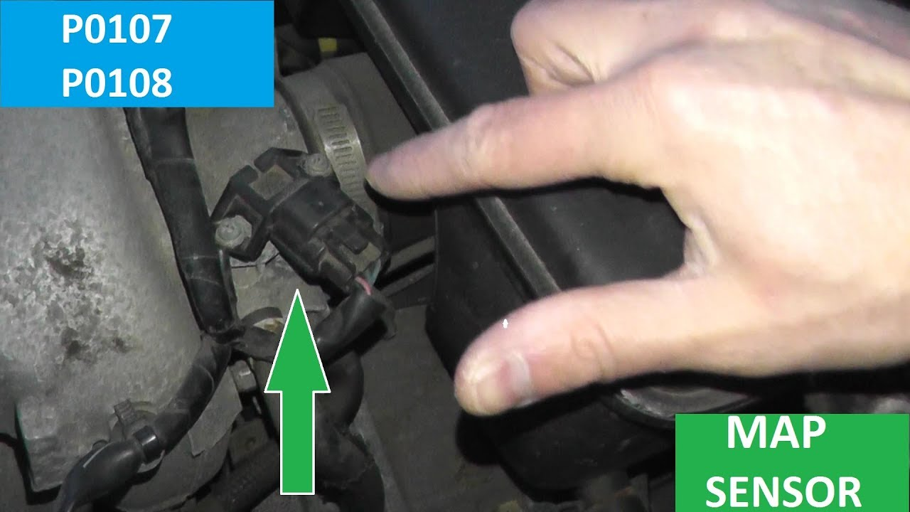 map sensor p0107 and p0108 how to test and replace [ 1280 x 720 Pixel ]