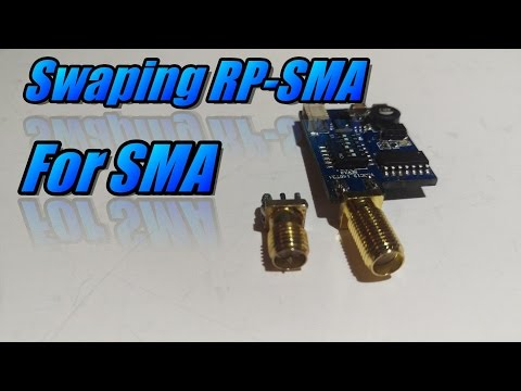Changing RP-SMA connector for SMA
