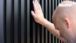 Linarte design gevelbekleding als sluitstuk van strak zwart-wit ontwerp
