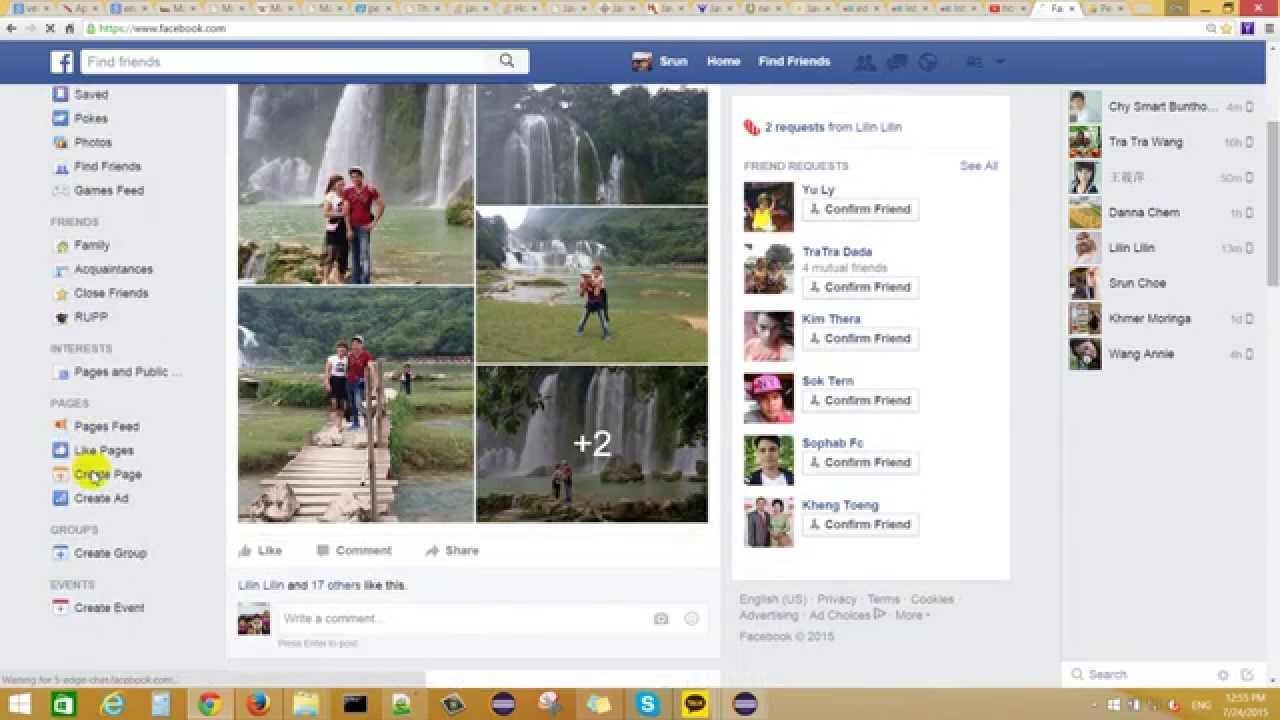 How to create web page on facebook - YouTube