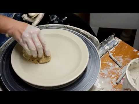Throwing a Plate on the Potter's Wheel