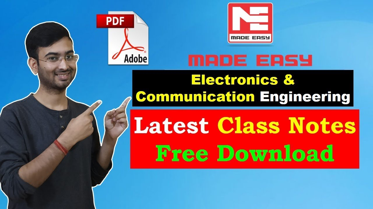 Download Electronics and Communication Engineering ECE Made Easy Free PDF  Handwritten Notes