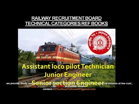 RRB Exam Technical   Reference books Preparation tips Syllabus Alp Tech junior & Sr Section Engineer