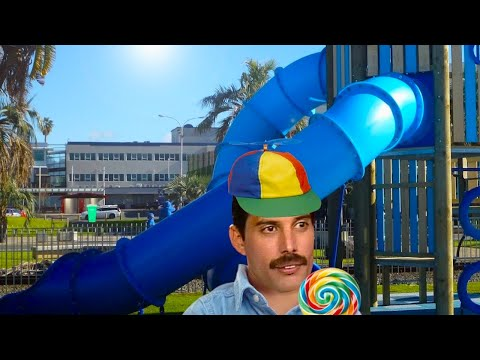 Freddie Mercury gets Trapped in a Slide and Calls out for Mamma (ASMR)