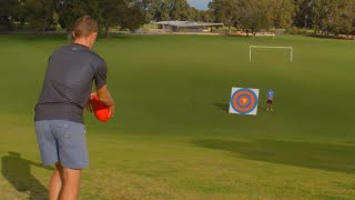 AFL FOOTBALL TRICK SHOTS!