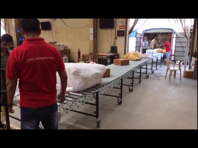 Nido Motorized Flexible Roller Conveyor with Timing Belt