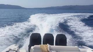 BOSTON WHALER 380 OUTRAGE TRİPLE 300 HP MERCURY (english subtitle) inceleme