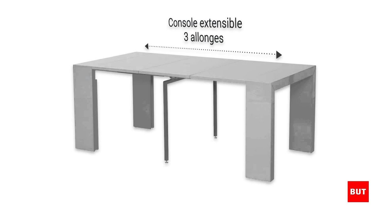 Console extensible victoria 2 but youtube for Table console extensible rallonges incorporees