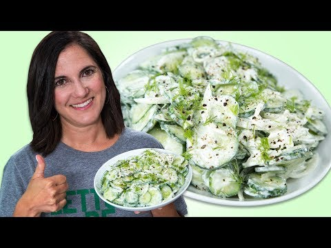 How To Make Creamy Cucumber Salad   Best Summer Side Dish Recipes   Well Done