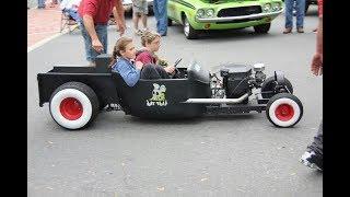 Mini Rat Rod Engine Cars Starting Up and Sound