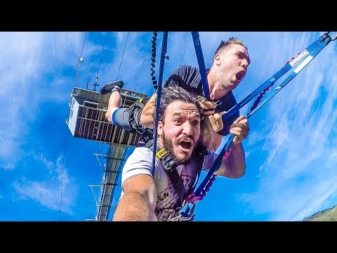 WORLD'S BIGGEST ROPE SWING! (Nevis Swing) w/ Toddy Smithy