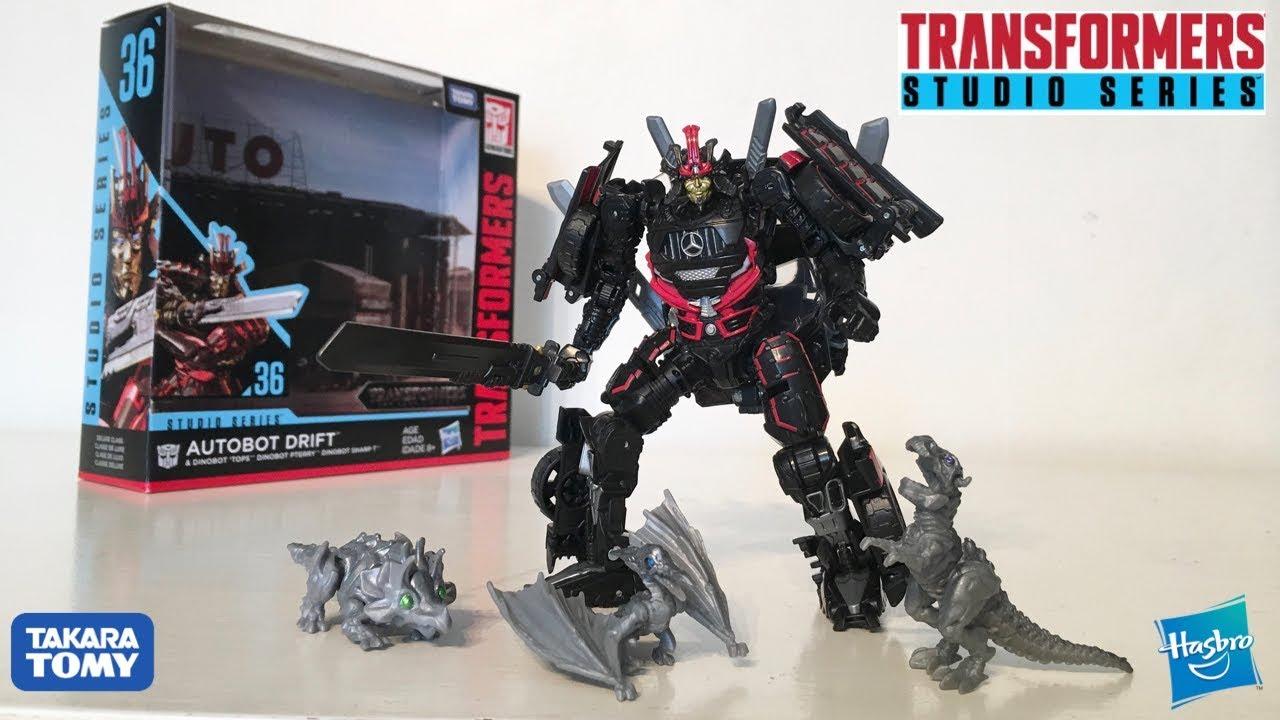 Tops SHARP-T Pterry Transformers Studio Series Deluxe Drift avec bébé Dinobots