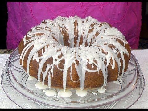 Puerto Rican Coconut Rum Cake - Bizcocho Coco-Ron - YouTube