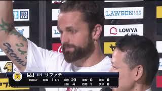 ホークス・内川選手・中村晃選手・サファテ投手のヒーローインタビュー...