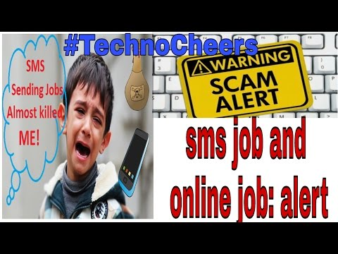 Sms job scam alert any online job and deal