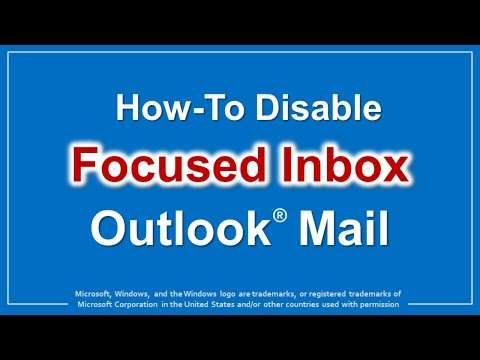 How to Disable Focused Inbox in Outlook Mail